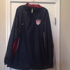 L Nike Pullover Windbreaker U.S. Soccer